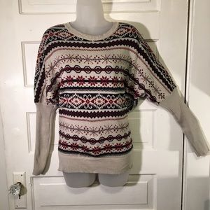Robin Sweater Updated Fair Isle Laced V Back